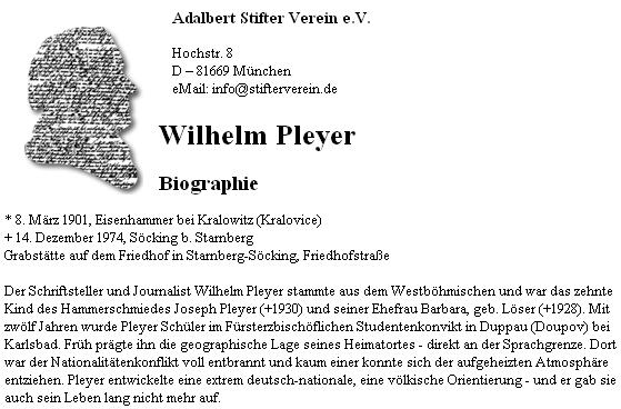 Úvod jeho životopisných stránek v databázi Adalbert Stifter Verein