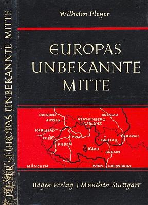 """Vazba (Bogen-Verlag,1957) jeho """"politické čítanky"""" Europas unbekannte Mitte, tj. """"Neznámý střed Evropy"""",     smapkou německých nářečí v českých zemích na předsádce"""