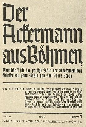 Obálka (1933) 1. čísla Watzlikova a Leppova měsíčníku     s úvodním příspěvkem Pleyerovým