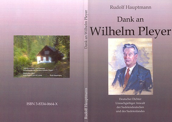 Obálka knihy o W. Pleyerovi (2004) v nakladatelství Books on Demand, Norderstedt