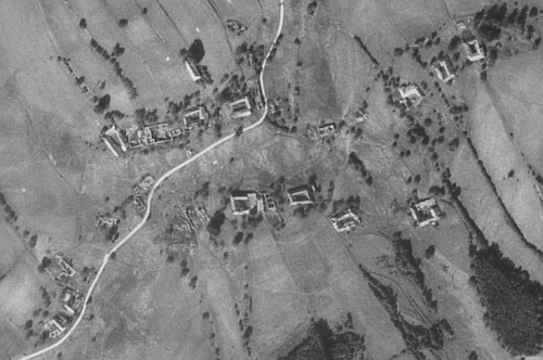 Mikulov na leteckých snímcích z let 1952 a 2008