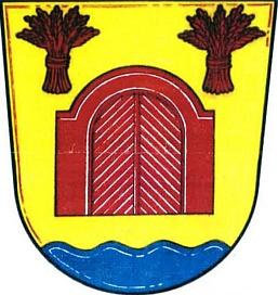 Dnešní znak obce Vráto odkazuje na její české jméno, které ovšem podle     Profousových Místních jmen v Čechách proniklo do spisů teprve v 15. století