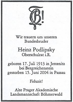 Parte spolku německých pražských akademiků ze Šumavy
