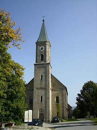 Kostel sv. Valentýna v rodném Bischofsreut