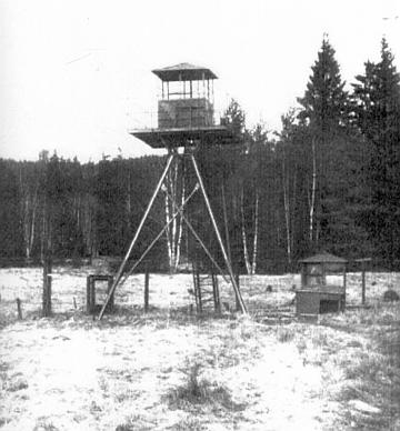 Někdejší pozorovatelna Pohraniční stráže v okolí Českých Žlebů