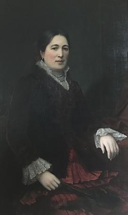 Možné (leč zatím nepotvrzené) potréty Alberta Poppera a jeho manželky Anny Josefy (nebo dcery Angeliky?), které namaloval v roce 1883 rakouský malíř Emil Pirchan starší
