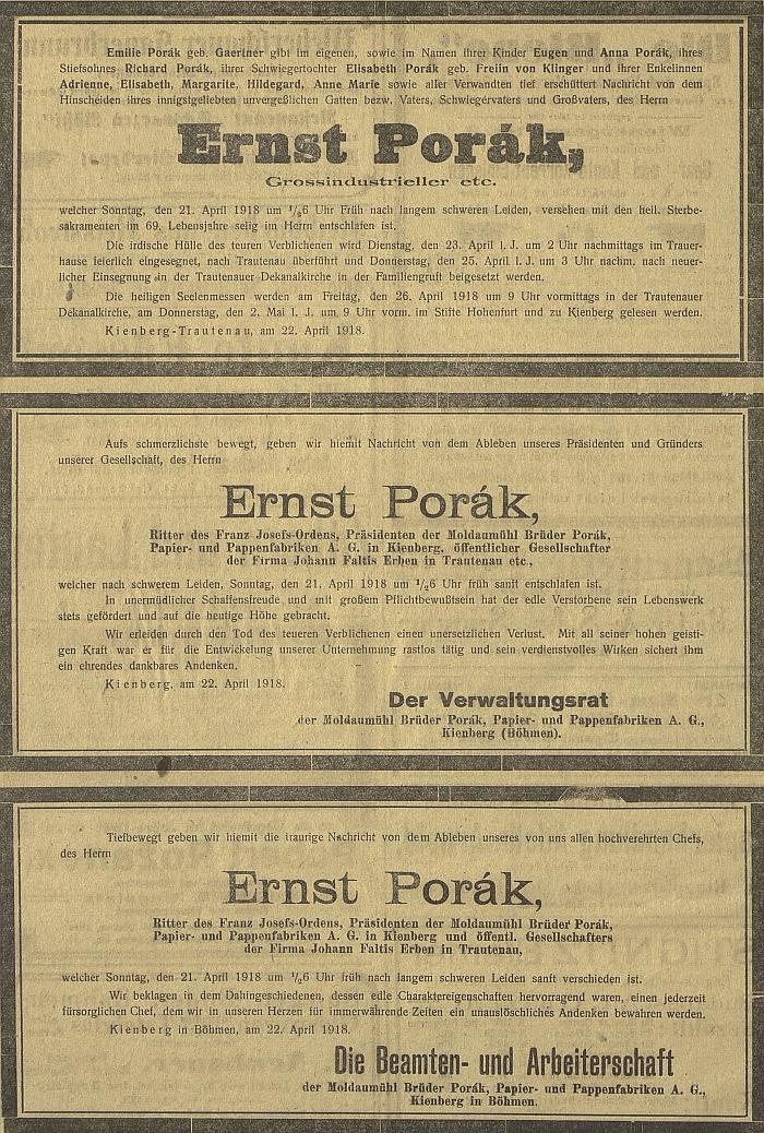 ... a tři německá parte otcova v Budweiser Zeitung