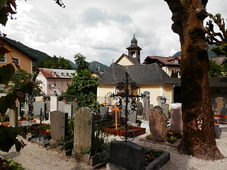 Hřbitov v Bad Ischlu, kde byl pohřben