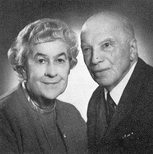 S manželkou Henriette o svých 89. narozeninách v Bad Ischlu