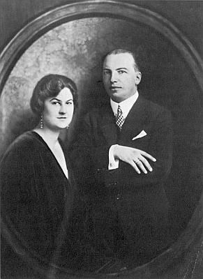 Henriette Albertine Porák, roz. komtesa de Lapeyriere, s manželem v mladých letech
