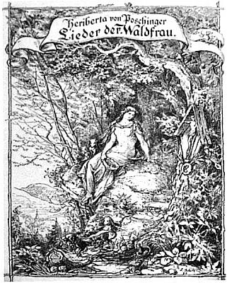 Obálka (1893) její básnické sbírky