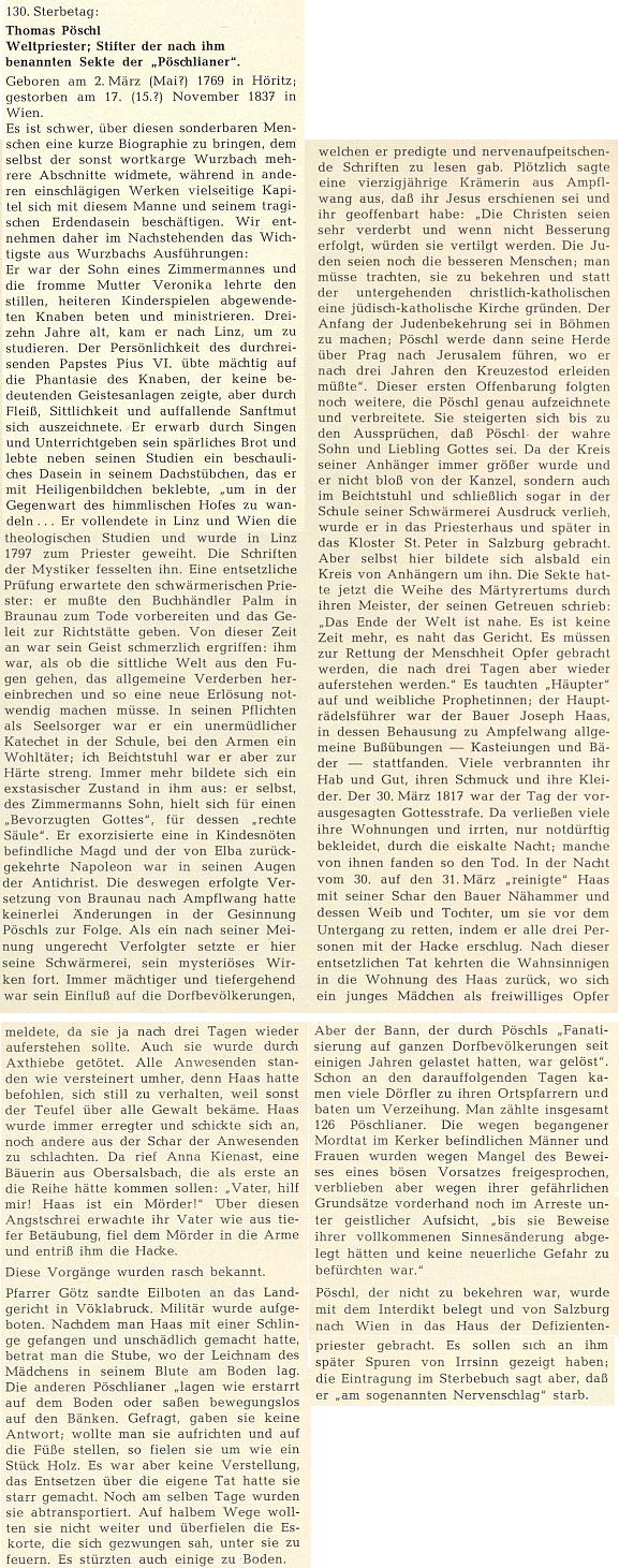 Medailon ke 130. výročí jeho skonu napsal do krajanského měsíčníku Fritz Huemer-Kreiner