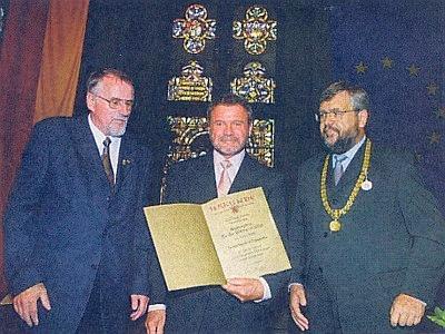 Při převzetí Kulturní ceny města Pasova 2001