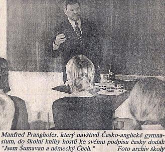 Se žáky českobudějovického Česko-anglického gymnázia, s nímž má jeho pasovské partnerské vztahy