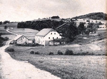 Geiermühle na Zlaté stezce blízko Waldkirchen na jeho fotografii