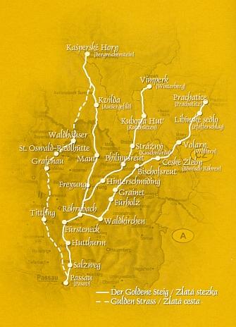 Zlatá stezka, tisícilezá spojnice Bavor, Rakous aČech
