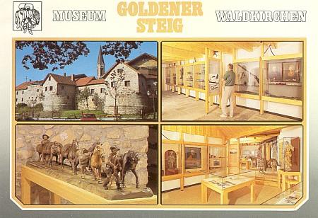 """Pohlednice """"jeho"""" Muzea Zlaté stezky ve Waldkirchen"""