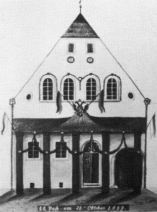 Na místě staré c.k. pošty stála od roku 1883 budova čp. 95, náležející od roku 1920 Zenkerovým