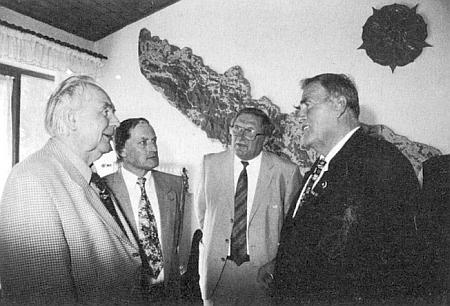 V Domě Adolfa Webingera v Lackerhäuser s Franzem Nodesem a Horstem Stiepanim