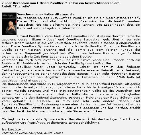 """Dosti zásadní komentář k českému původu Syrowatkových (a jiných jim podobných) od jedné """"vyhnané Liberečanky"""", žijící dnes v italské Veroně"""