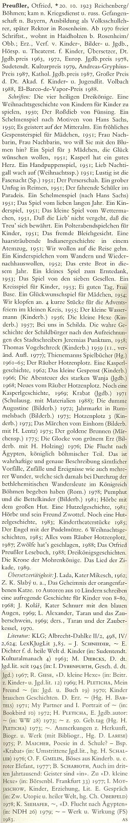 Jeho heslo v německém literárním lexikonu se o změně příjmení vautorových osmnácti letech vůbec nezmiňuje