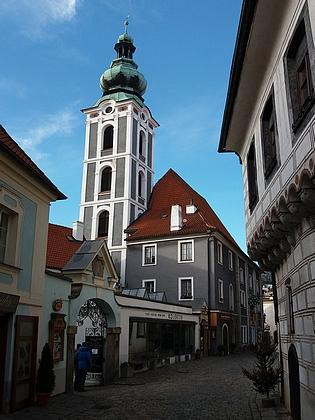 Českokrumlovský Latrán s bývalým kostelem svatého Jošta, zmíněný vjeho vzpomínkách