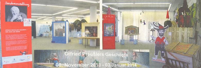 Na snímku ze zahájení výstavy oživených postav jeho děl pro loutkové divadlo, pořádané na přelomu let 2013 a 2014 kPreußlerovým nedožitým devadesátinám sdružením Adalbert-Stifter-Verein v Mnichově, je spisovatelova nejmladší dcera Susanne Preußlerová, provdaná Bitschová, zachycena druhá zleva