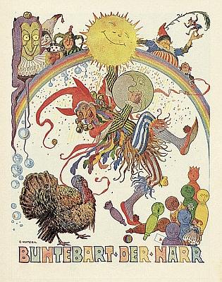 Ilustrace Ernsta Kutzera k Watzlikově knize Firleifanz, o které je řeč vPreusslerově textu Šumavské kořeny