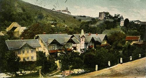 Rodné vimperské předměstí Mariahilf na pohlednici zdejšího fotografa Felixe Pohla