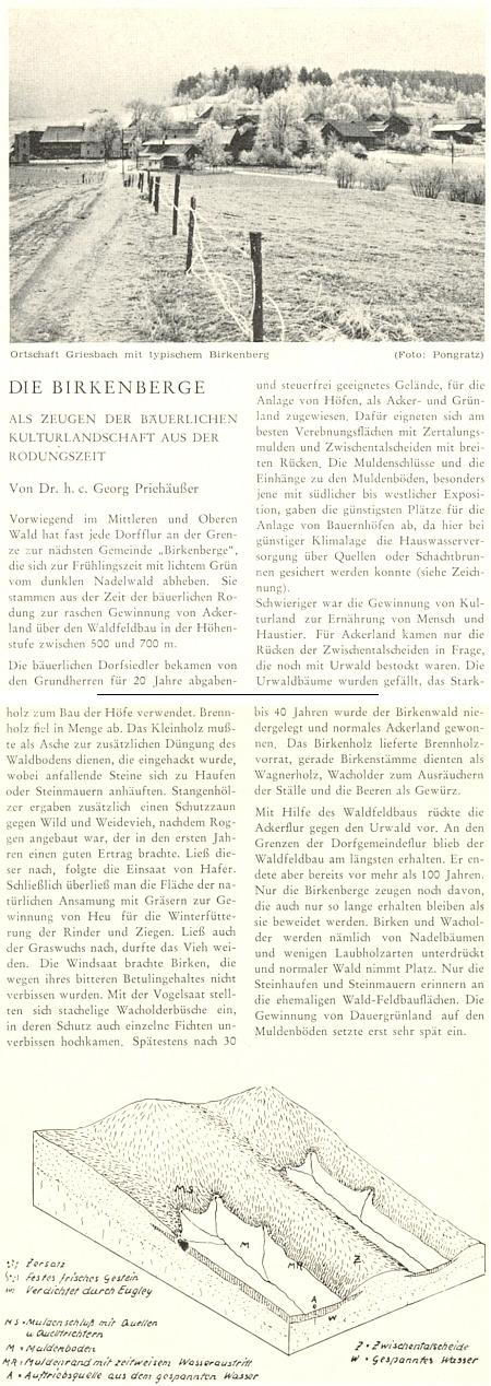 """Jeho článek o """"březových horách"""" líčí získávání půdy v počátcích kolonizační proměny lesní krajiny, snímkem jej doprovodil Adalbert Pongratz, který je zřejmě autorem i článku výše se signaturou """"po"""""""
