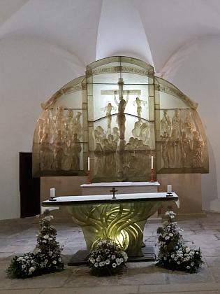 Kostel sv. Vintíře v Dobré Vodě u Hartmanic dnes (2017, viz i Pius Gockner)