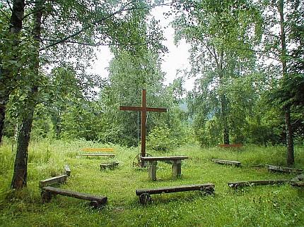 Dnešní stav místa, kde stával kostel v Rychnůvku