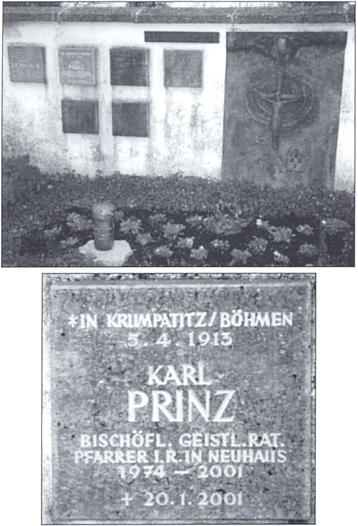 Jeho hrob v Neuhaus am Inn