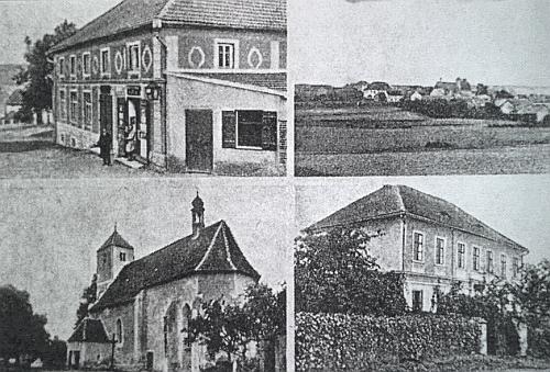 Bukovec na dvou starých pohlednicích
