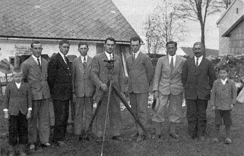 Při vyměřování ve Stožci roku 1931