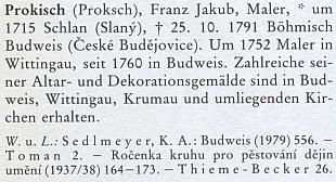 Jeho heslo v německém životopisném lexikonu k dějinám českých zemí