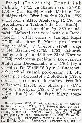 """O něm v Tomanově """"Novém slovníku československých výtvarných umělců"""""""