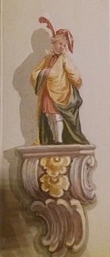 Jeho nástěnné malby v zámku Červený Dvůr