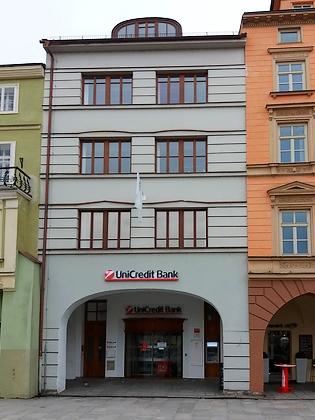 Dnešní podoba někdejšího Prokischova domu čp. 369 načeskobudějovickém náměstí