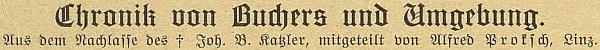 Záhlaví článku v časopise Waldheimat
