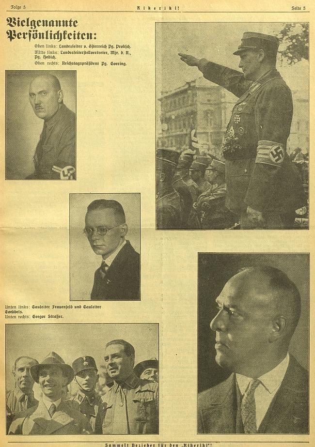 """""""Linecký"""" Alfred Proksch v nelichotivé společnosti nacistických funkcionářů a budoucích válečných zločinců - mohl by to být on, kdo se zabýval historií odlehlé """"šumavské"""" obce?"""