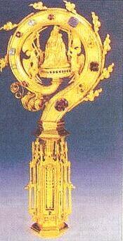 Opatská berla kláštera ve Schläglu, pasovská zlatnická práce z roku 1487