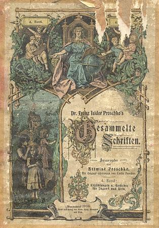 Obálka (1904) jednoho ze svazků otcových spisů, které redigovala