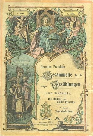 Její sebrané povídky a básně měly obálku (zde 1902) stejnou (viz i Josef Panhölzl)