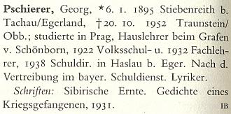 Jeho heslo v renomovaném německém literárním slovníku prozrazuje i skutečnost, že byl kdysi domácím učitelem v rodině hraběte Schönborna
