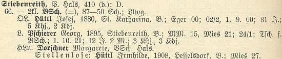 V rodné Ctiboři i učil, jak vysvítá ze seznamu zdejších učitelů k roku 1928