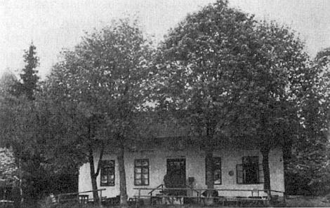 Hostinec při Girglhofu na snímku ze třicátých let dvacátého století