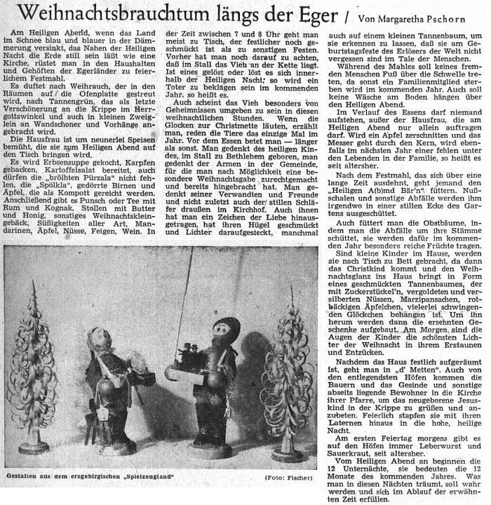 Do vánočního čísla ústředního krajanského listu přispěla v roce 1952 článkem o Vánocích rodného kraje