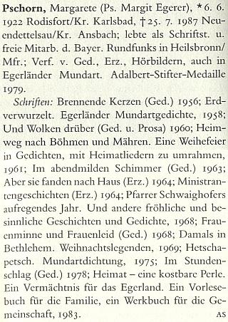 Její heslo v renomovaném německém literárním slovníku (1990)