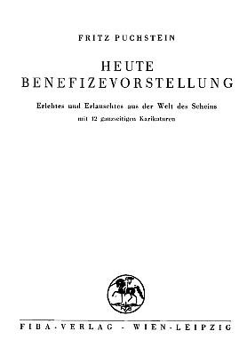 Obálka a titulní list jeho knihy (1935, Fiba Verlag Wien, Leipzig)